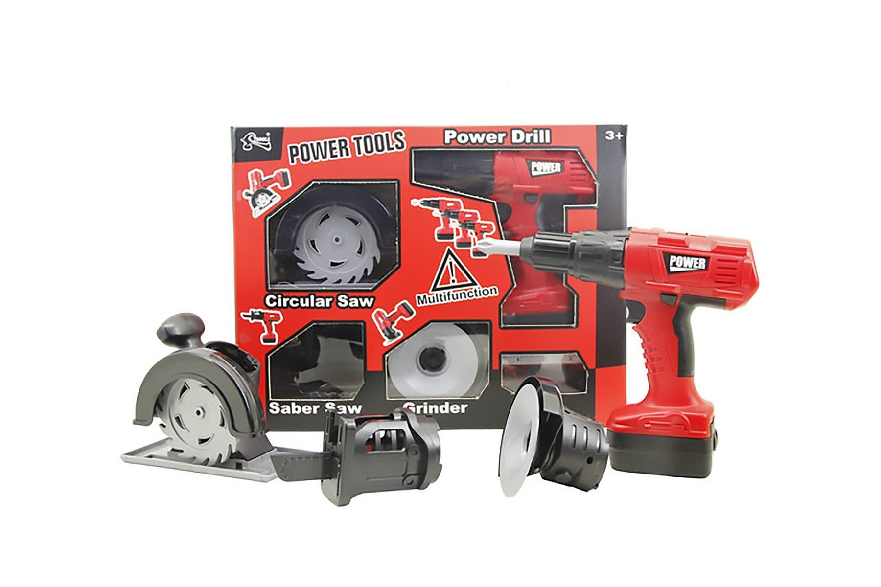 Multinational Electric Drill Toy Construction Power Tool for Kids Pretend Play Set