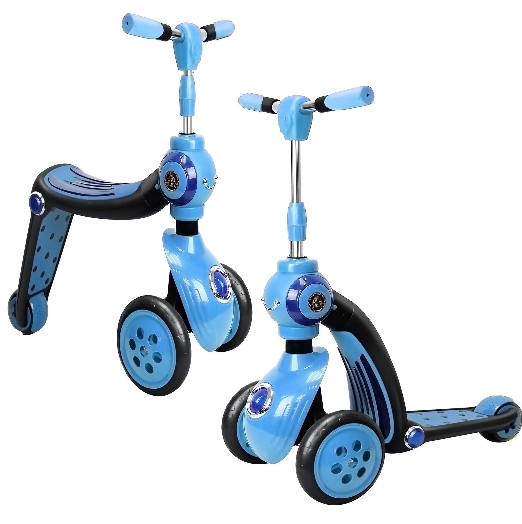 2-in-1 Switch Scooter, Transforms From Trike To A Scooter, Ride-on,