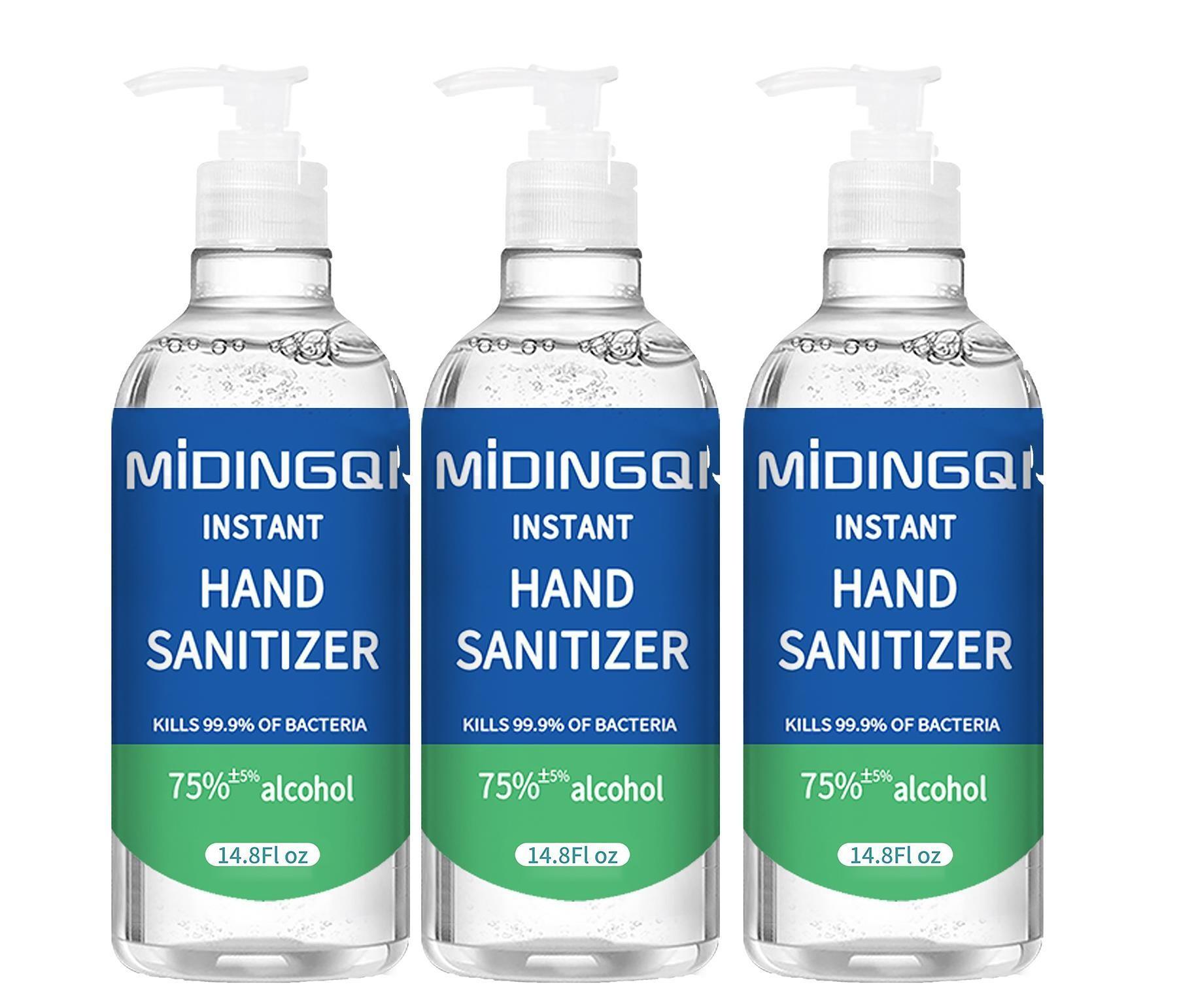 MIDINGQI Sanitiser 3 X 500 ml Hand sanitizer with 75% alcohol