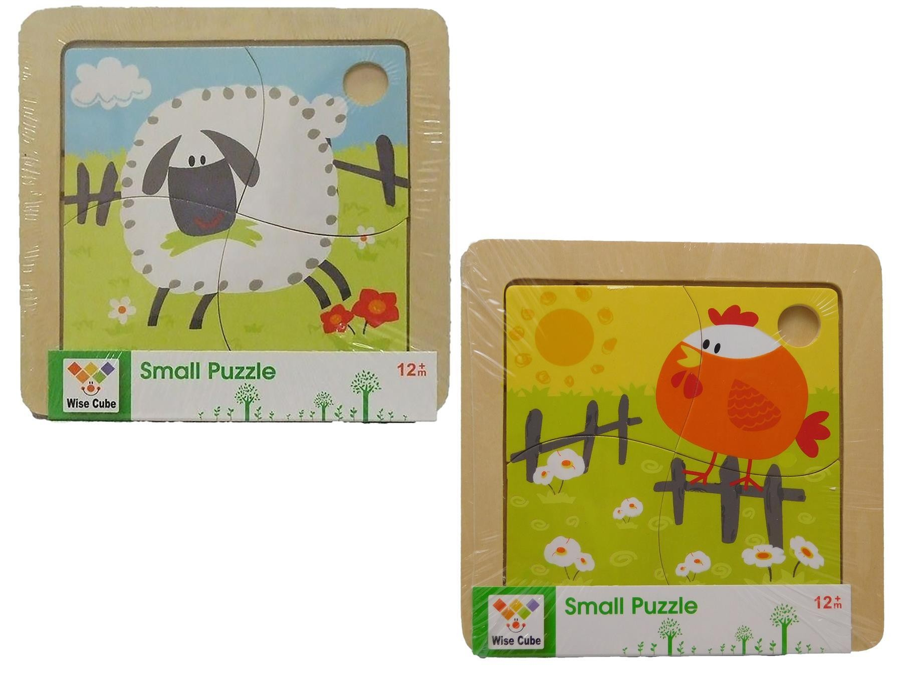 Two  4PC Sheep And Rooster Jigsaw  Puzzle