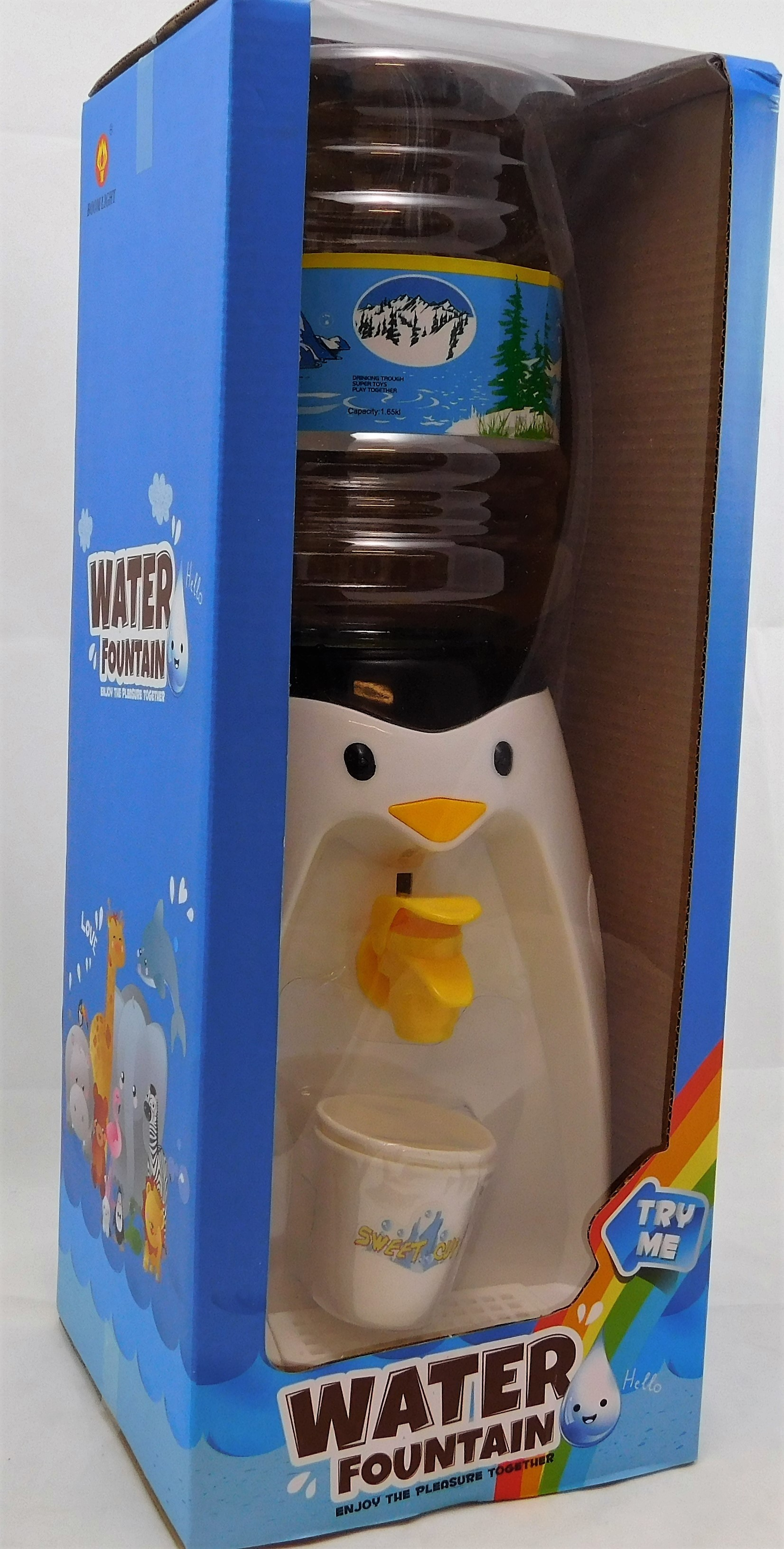 Penguin Mini Water Dispenser Serves 8 Glasses Of Water/Other Tipple Black/White