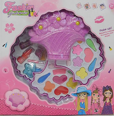 Fashion Girl Toy Large First Real Kids Make Up Beauty Flower Basket Shape Sets