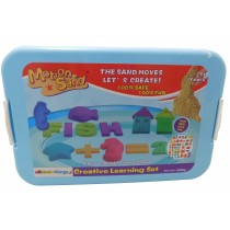 Magic Motion Sand Alphabet Theme 1 KG Sand Play Tray and Moulds