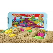 Magic Motion Sand With 1KG Sand and Play tray With Moulds