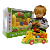 Boys and Girls Intellectual Musical  Wac A Mole Learning School Bus Baby Toy