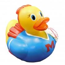 Cheerleader Bath Rubber Duck With Heat Safety Spot Children's Bath Toy