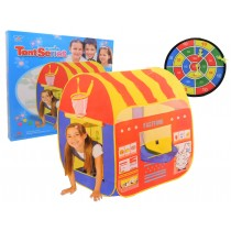 Toy Pop Up Fast food Play Tent With Basketball Net And Velcro Dartboard