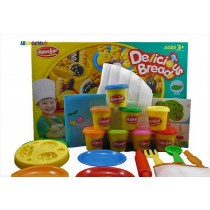 Delicious breads Play Dough Plasticine  Clay Set With Chef's outfit and accessories