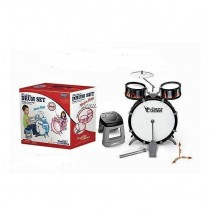 Children Kids Jazz Band Musical Drum Sound Studio Kit Play Set With Seat Toy