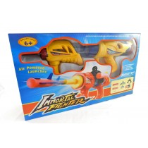 Immortal Fighter Air Powered Launcher Shooter Fun Blaster Toy Gun Yellow