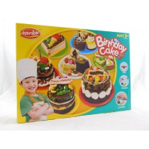 Birthday Cake Play Dough Plasticine  Clay Set With Chef's Outfit And Accessories