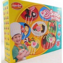 Play Dough Doh Super lollipops Plasticine Set With Chef's outfit and eight colours