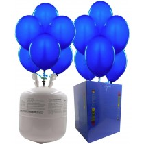 "Disposable Helium Gas Canister Cylinder Balloons with 25 11"" Navy Blue Balloons"