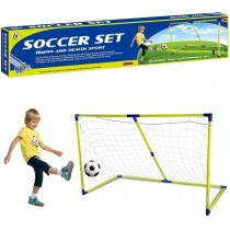 Kids 154 cm 5ft Football Soccer Goal Nets Post And Ball Indoor Outdoor Sports Toy