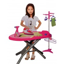 Children's Toy Pretend Play Iron and Ironing Board With Laundry Set