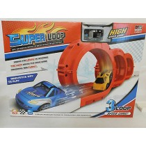 Mini Car Racer Set Kids Toy Fun Three Loops Track Looping Cars Racing Pull Back