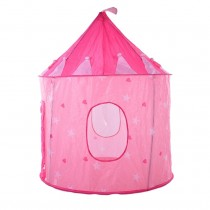 Girl's Pink Princess Fantasy Castle Tent - Portable Play Tent