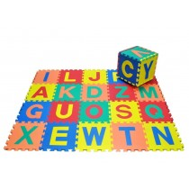 Soft Foam Alphabet Play Mat Toy 26Pieces Jigsaw Play Area With Removable Letters