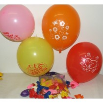 Quality Latex Helium 50 x Printed Hppy Birthday Balloons 10""