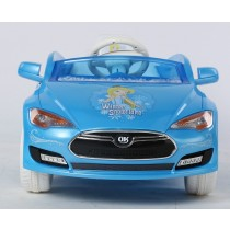 Kids Ride On Toy Plastic/Steel Car Electric/Battery Remote Control Car Blue
