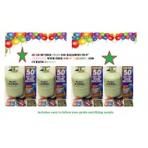 Disposable Helium Gas Pack Quadruple Fills 200 Ballons For Any Party Events