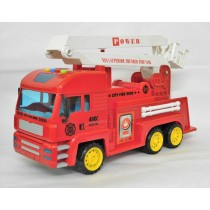Children Large Red Friction Fire Engine Car With Sounds And Lights Kids New