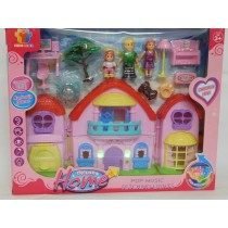 Girls Dolls House Plus Accessories Carry Along Set Childrens Girls Gift Toy
