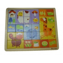 Children Toy Wooden 31 Pieces Fun Square Puzzle Creative Kids By Wise Cube
