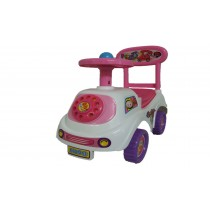 Push Along Smart Ride On Children Car Phone Theme Toy White Pink Purple