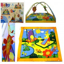Baby Activity Play Gym Playmat With  Mat Sounds And Soft Dangle Development