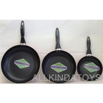 Set Of 3 New Quality Non Stick Frying Pans 20.26 And 30cm ORANGE - To Clear - Were £19.95