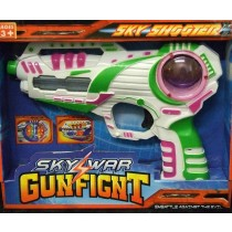 Kids Flashing LED Gunfight Space Pistol Ray Gun With Firing Sound Laser Toy White