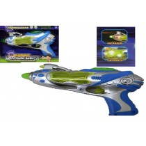 Kids Flashing LED Light Up Space Ray Gun With Firing Sound Laser Gun Toy 3D