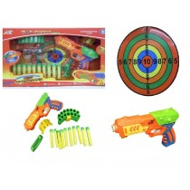 Hot Shots Foam Dart Gun Target Shooting Game With Foam Darts And Safty Goggles