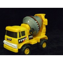Toy Yellow Strong Plastic Cement Mixer Construction For Boys Battery Operated
