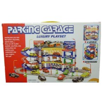 Children Kids Car Park Parking Garage Toy Play Set + 4 Cars Easy To Assemble