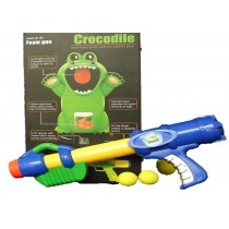 Crocodile Shooting Game Kids Toy With Soft Safe Foam Balls And Pump Action Gun