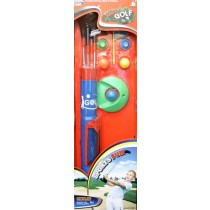 Children Toy Golf Set Balls Clubs  Kids Garden Game Plastic-Steel Shafts