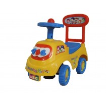 Push Along Ride On Car Children Car Toy Alphabet Themed Storage Red Yellow Blue