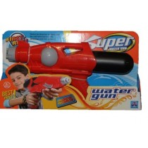 "Super Soaker 14"" Action Water Gun Pistol Outdoor Beach Garden Toy Blaster In Red"