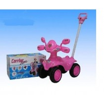 Sit On Ride On Children Kids Quad With Sounds Lights And Parental Handle Pink