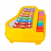 Children Toddler Toy 8 x Key Xylophone Piano With 6 Pieces Of Music Scores Cards