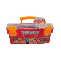Power Toy Tools Construction Tool Box With 16 pcs  Pretend Play Set