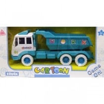 Children Kids Tot Tipping Construction Toy Large Truck With Cyan Colour New