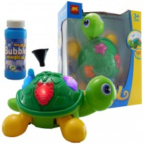 Turtle Bubble Blowing Toy With Lights Party Bubbles Rotates Children Toy
