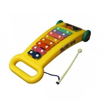 Children Kids 8-Note Xylophone Musical Toy Pull Along Educational Yellow