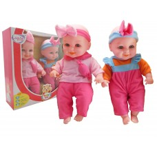 "Kids Kid Twin 12"" 30 cm Soft body Dolls With 12 Sounds"