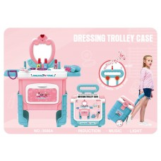 Girls Two in 1 Makeup Dressing Trolley Box With Sound And Lights