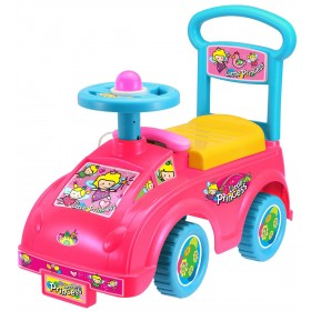 Push Along Sit On Ride On Car Quality Plastic Toy Little Princess Theme