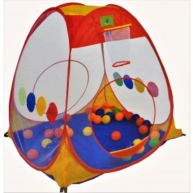 Pop Up Baby Kids Play Teepee Tent Playhouse With 100 Play Balls